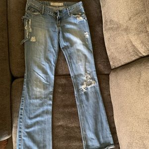 Hollister ripped boot cut jeans